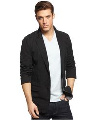 DKNY - Black Canvas Blazer for Men - Lyst