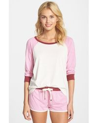 Jane & Bleecker New York - Pink Washed Jersey Tee - Lyst