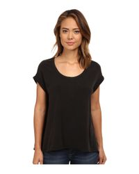 Free People | Black Super Cycle Jersey Kristin Tee | Lyst