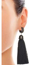 Lanvin | Black Marina Swarovski-Embellished Earrings | Lyst