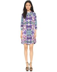 Free People | Blue Interlock Fiesta Dress - Night Combo | Lyst