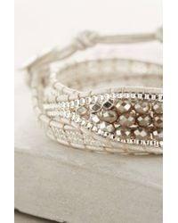 Anthropologie - Metallic White Sands Wrap Bracelet - Lyst