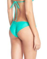 Luli Fama - Green 'wavy' Brazilian Side Tie Bikini Bottoms - Lyst