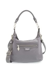 MZ Wallace | Gray 'Capri' Nylon Hobo Bag | Lyst