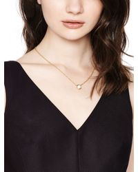 kate spade new york | Metallic Draped Jewels Multi-stone Necklace | Lyst