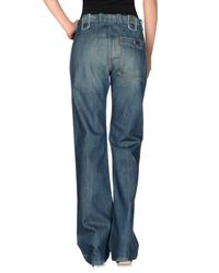 DIESEL - Blue Denim Trousers - Lyst