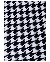 Missguided - Black Graciela Dogtooth Spaghetti Strap Crop Top In Monochrome - Lyst