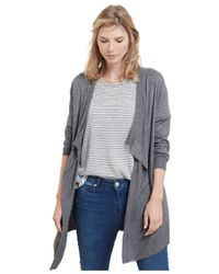 Violeta by Mango - Gray Plus Size Open-front Cardigan - Lyst