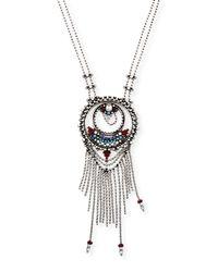 DANNIJO | Metallic Camryn Chain Fringe Pendant Necklace | Lyst