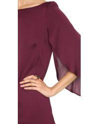 MILLY - Purple Butterfly Sleeve Dress - Lyst