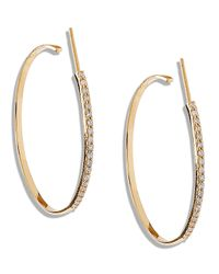 Lana Jewelry | Metallic Femme Small Hoop Earrings With Diamonds | Lyst