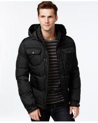 Levi's   Black Hooded Puffer Jacket for Men   Lyst
