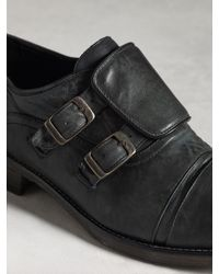 John Varvatos - Black Fleetwood Buckle Oxford for Men - Lyst