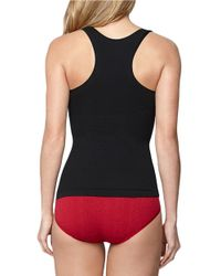 Yummie By Heather Thomson | Black Seamlessly Shaped Racerback Tank | Lyst