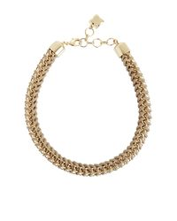 BCBGMAXAZRIA | Brown Woven Box-chain Necklace | Lyst