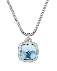 David Yurman - Albion Pendant With Blue Topaz And Diamonds - Lyst