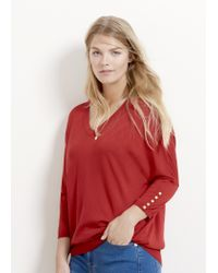 Violeta by Mango | Red Studded Sweater | Lyst