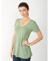 Alternative Apparel - Green Natural Dye Vneck Tshirt - Lyst