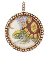 Annina Vogel - Metallic Gold Gucci Tortoise Print Locket - Lyst