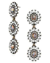 BaubleBar | Metallic 'daisy Chain' Drop Earrings - Opal/ Antique Gold | Lyst