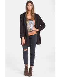 Billabong - Black 'tripped Up' Cardigan - Lyst