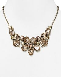 "Sorrelli | Metallic Cluster Bib Necklace, 17"" | Lyst"