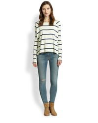 Rag & Bone - Natural Miller Striped Pima Cotton Top - Lyst