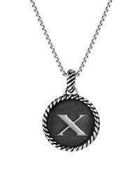 David Yurman - Metallic Cable Collectibles Initial Charm - Lyst