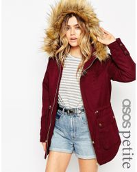 ASOS - Red Ultimate Parka - Lyst