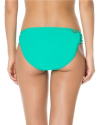 Jessica Simpson | Blue Side-shirred Swim Hipster Bottom | Lyst