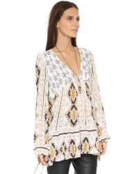 Free People | White Down By The Bay Dress | Lyst