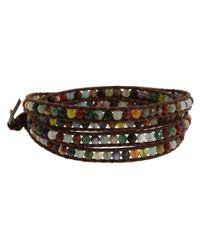 Chan Luu | Multicolor Semiprecious Stone Wrap Bracelet | Lyst