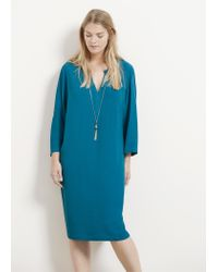 Violeta by Mango | Blue Chain Detail Dress | Lyst