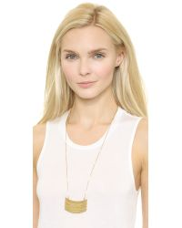 Madewell - Metallic Crescent Stack Necklace - Light Worn Gold - Lyst