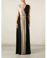 Lanvin | Black Bicolour Gown | Lyst