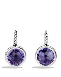 David Yurman - Metallic Color Classics Drop Earrings With Amethyst - Lyst