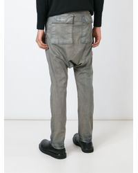DRKSHDW by Rick Owens - Gray Drop Crotch Jeans for Men - Lyst