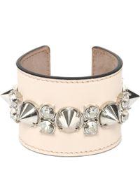 Alexander McQueen - Pink Spike Leather Cuff - Lyst