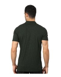 7 For All Mankind | Green Raw Placket Polo for Men | Lyst
