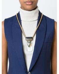 Marni   Metallic Faceted Pendant Necklace   Lyst