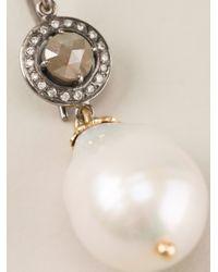 Natasha Zinko - White Vintage Small Dangling Earrings - Lyst
