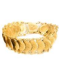 Kirat Young - Metallic Coin Link Bracelet - Lyst