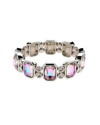 Monet - Multicolor Vitrail Crystal Stretch Bracelet - Lyst
