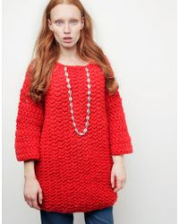 Wool And The Gang | Red Shell Out Sweater | Lyst
