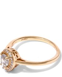 Anna Sheffield - Metallic Gold New Rosette Pear-cut Diamond Ring - Lyst
