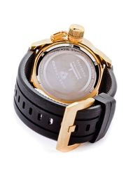 Swiss Legend | Metallic Submersible Black Silicone White Dial Gold-tone Case for Men | Lyst
