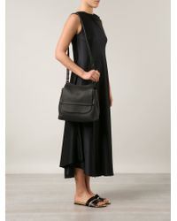 The Row - Black Saddle Leather Satchel - Lyst