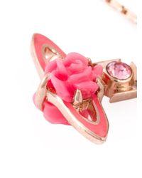 Vivienne Westwood - Pink Rose Orbit Bracelet - Lyst