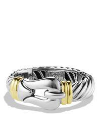 David Yurman - Metallic Cable Buckle Bracelet With Gold - Lyst
