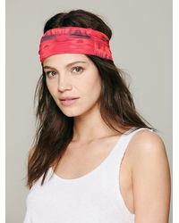 Free People - Red Printed Widebands - Lyst